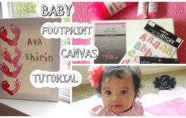Baby Footprint Canvas Tutorial...