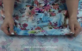 Floral Print Silky Satin Dress Fabric...