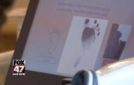 Baby footprints going digital at Sparrow Hospital...