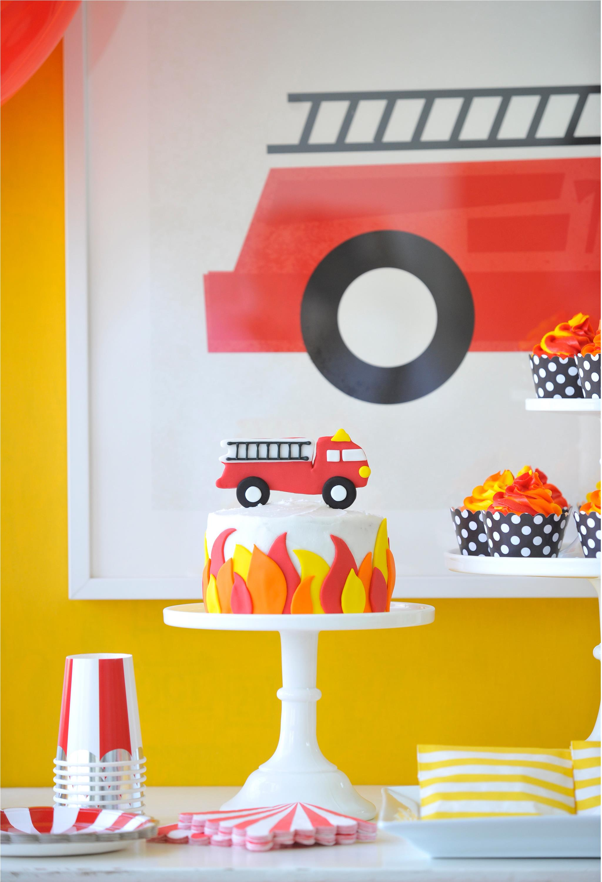 Fire Engine Birthday Party