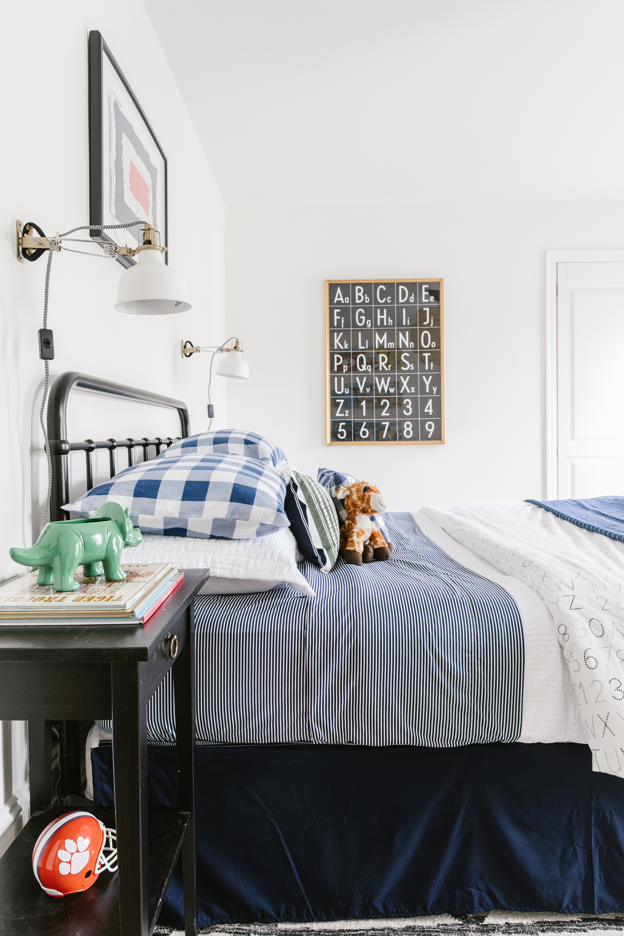 Navy Boy's Room with Vintage Flair