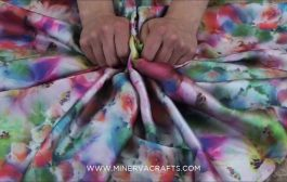 Slinky Satin Dress Fabric Floral Print...