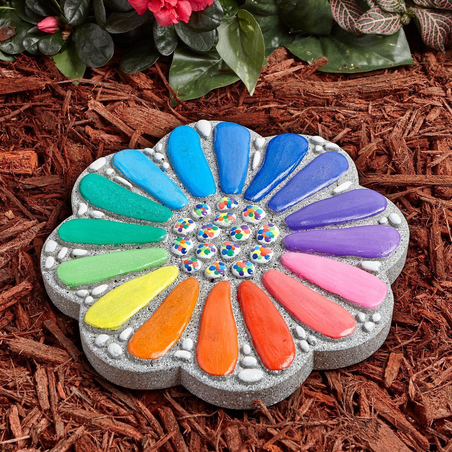 Paint Your Own Stepping Stone Flower