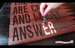 Make a Rustic Wood Sign...