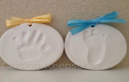 Clay Handprint Footprint or Paw Print Keepsake Kit Dries Stone Ha...
