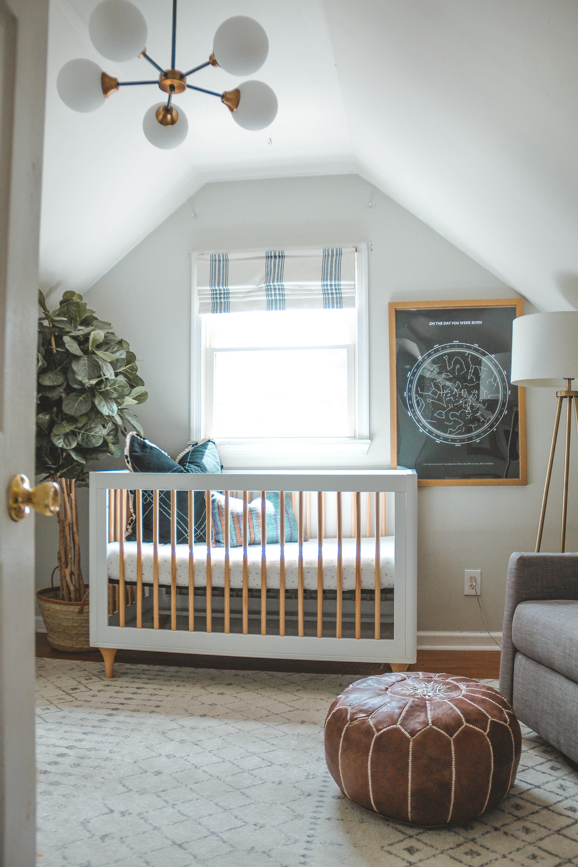 Eclectic Boy's Nursery with Star Map
