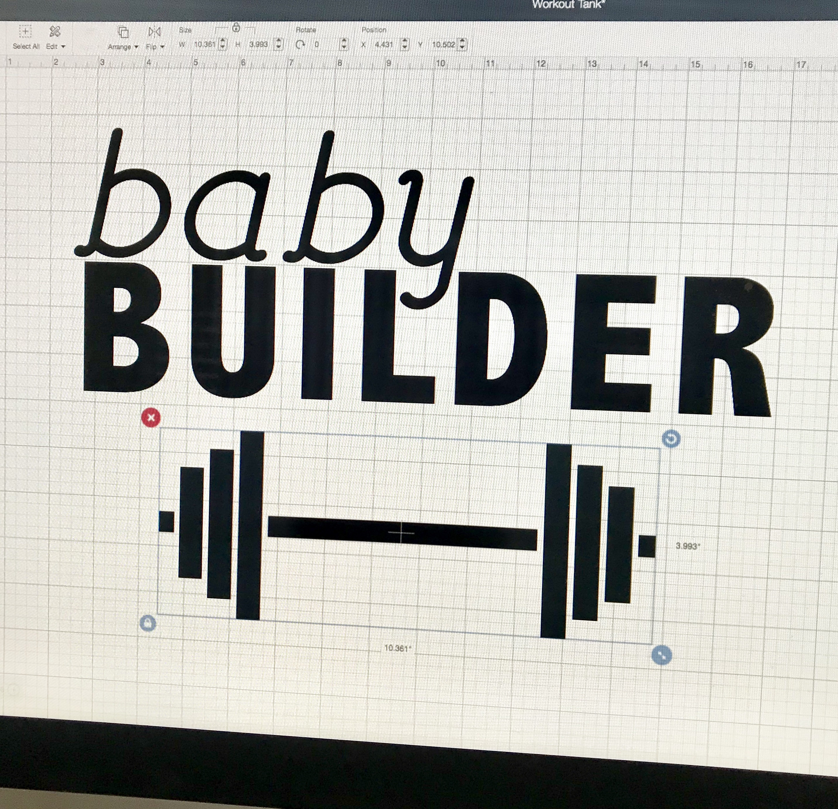 Baby Builder DIY Maternity Workout Shirt