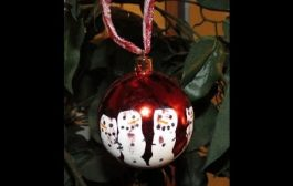 DIY: Kid Handprint Snowmen Ornament...