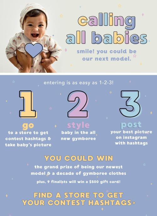 Enter the Gymboree Model Search!...