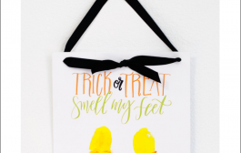 Trick or Treat, Smell My Feet Footprint Keepsake (with free print...