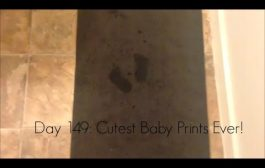 CUTEST BABY FEET PRINTS EVER (Day 149:11/20)...