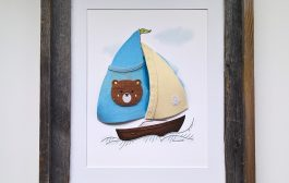 New sailboat design and a new baby keepsake....