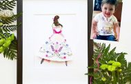 Flower shirt baby keepsake, big dress number 17, and self-employm...