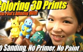 How to Color 3D Prints Easily: no sanding, no primer, no painting...