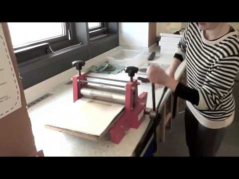 PRINTING MAKING - RELIEF USING THE PRINTING PRESS...
