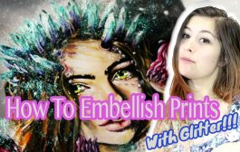 How to Embellish Prints with GLITTER!!...
