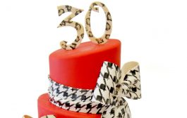 30th Birthday Cake - Zebra, Leopard and Houndstooth prints...