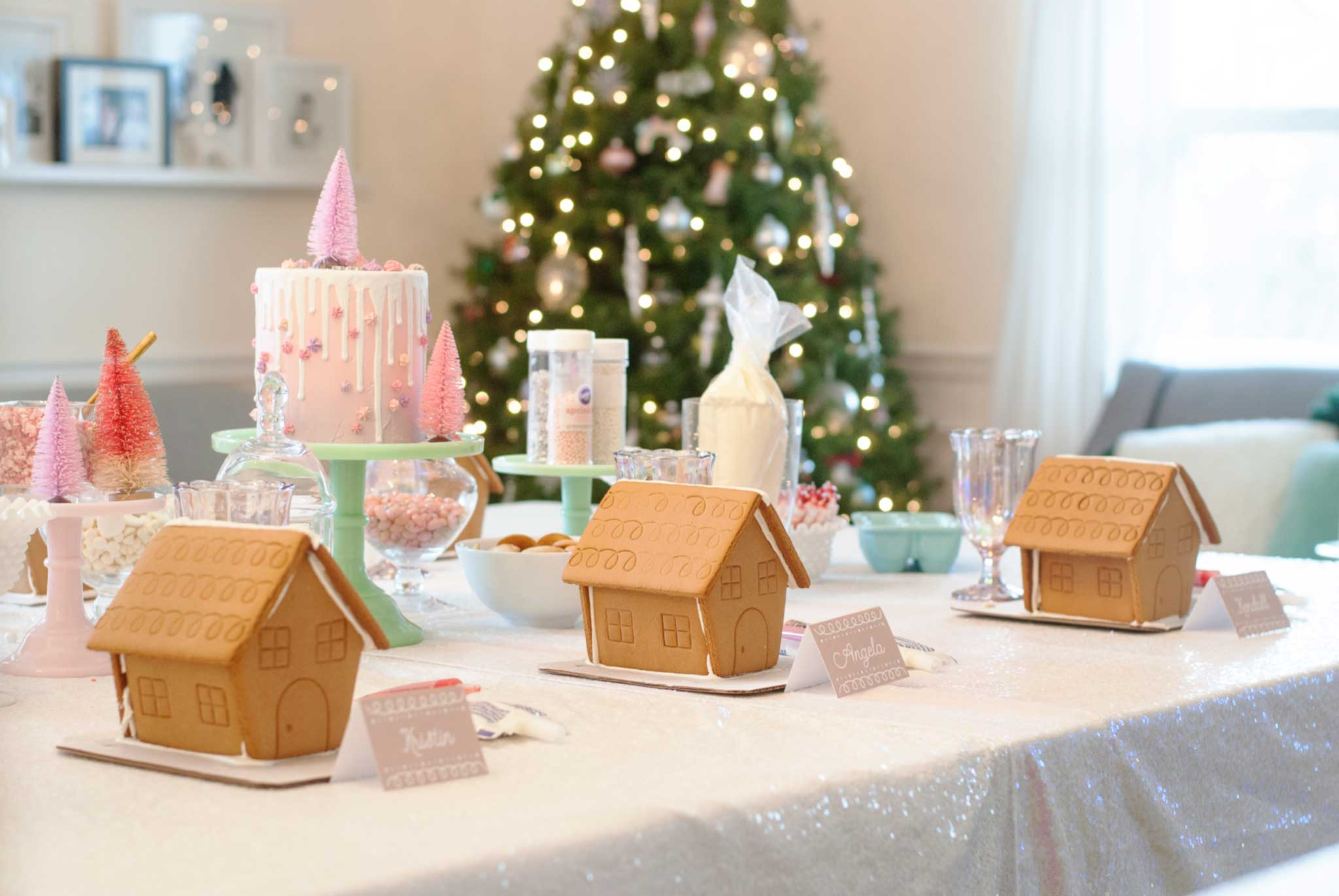 Pastel Gingerbread House Decorating Party...