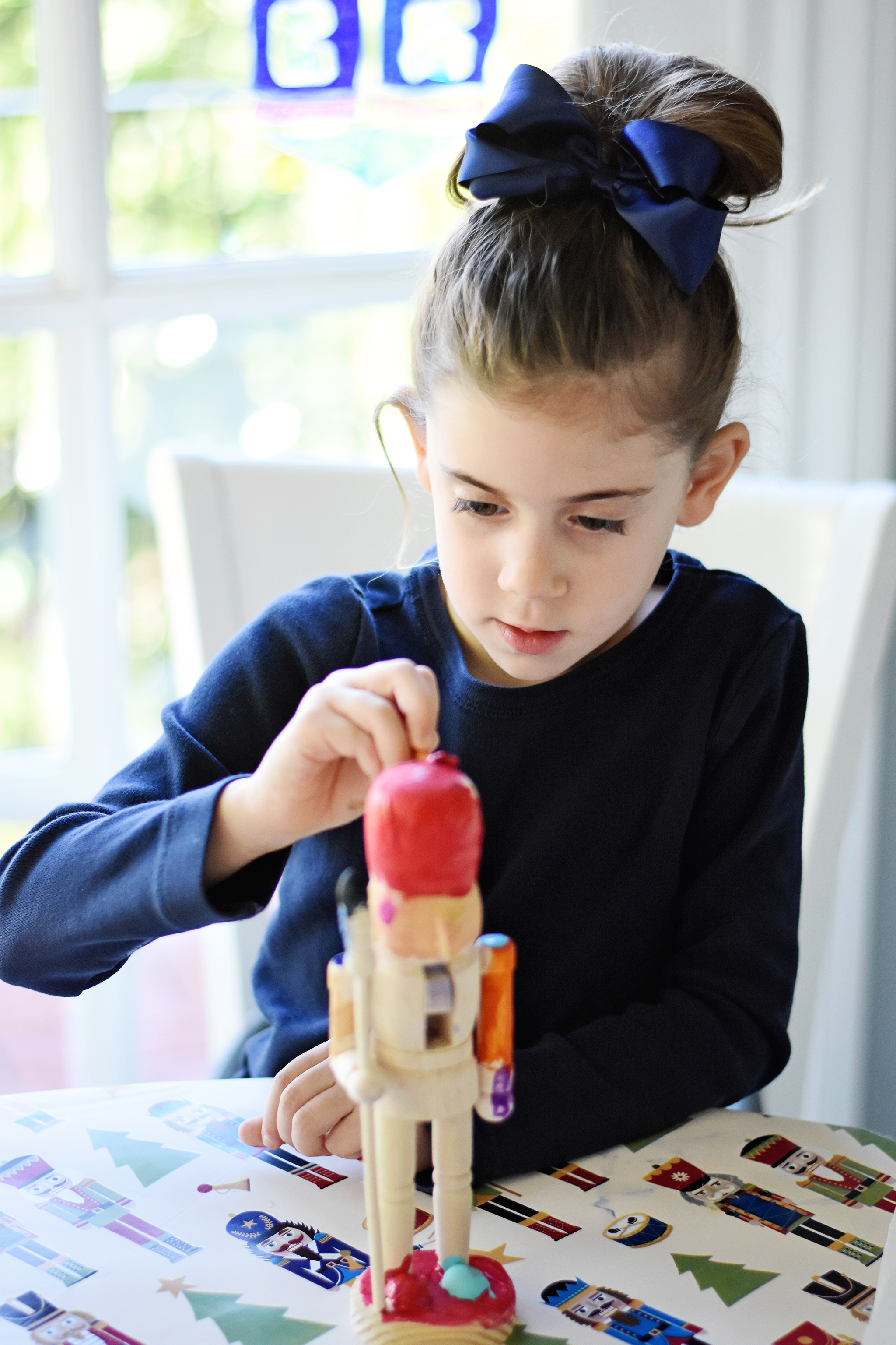 Kids will love designing their own nutcrackers!