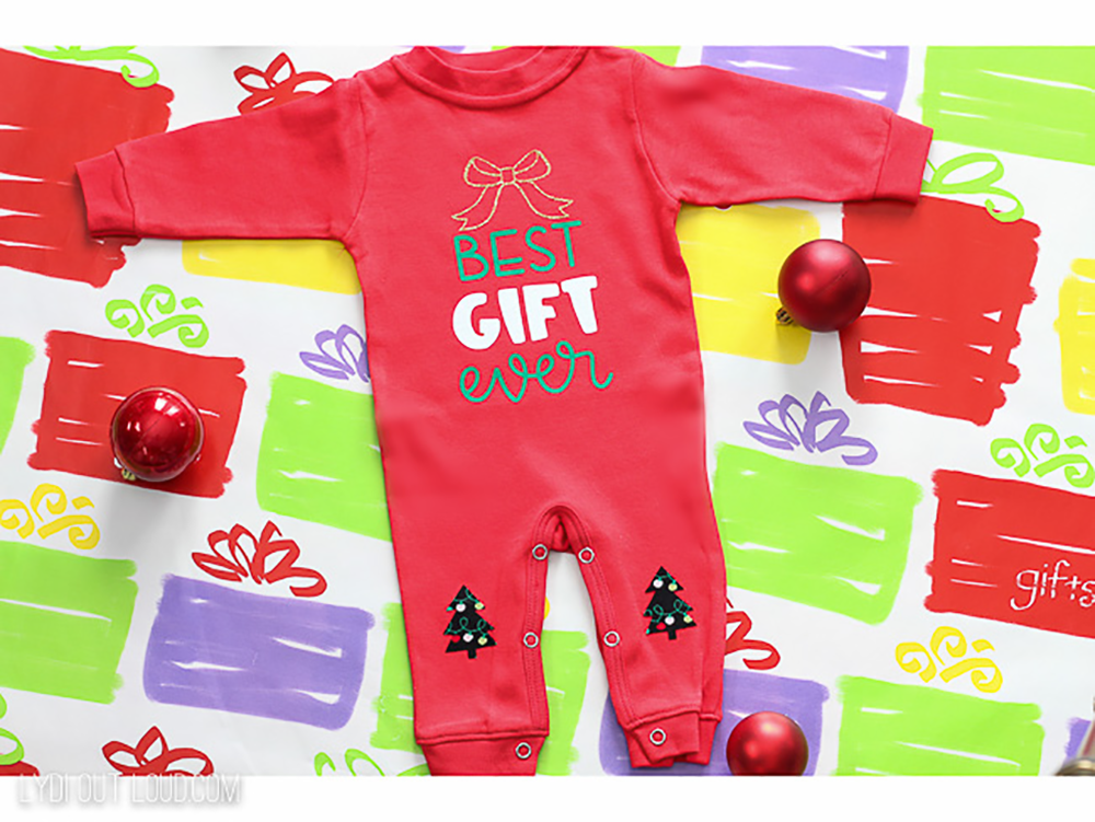 Baby's First Christmas Pajamas from Lydi Out Loud