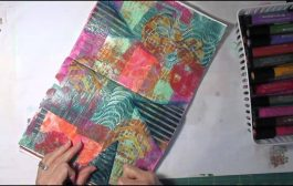 Art Journaling Process Using Gelli Deli Prints...