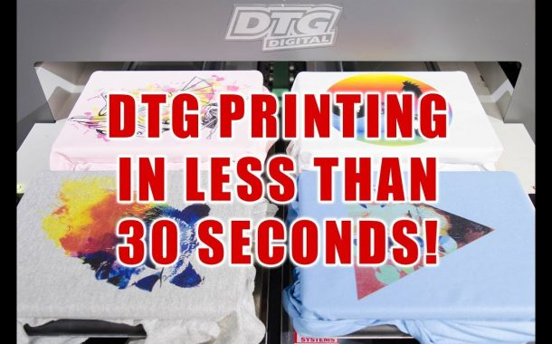 Print on 4 colored kids t-shirt less than 30 seconds! 4 PLATENS w...