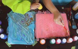 Painting with my daughter | making 'card stock' prints - DIY FUN:...