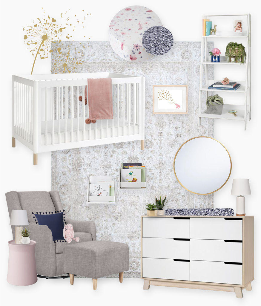 A Modern Pastel Nursery E-Design Reveal...
