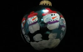 Child Hand Print Snowman Ornament Tutorial...