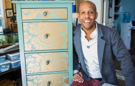 Home & Family - How to Makeover your Dresser using Wallpaper...