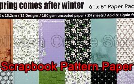 Scrapbook Paper Craft Pattern 6x6 Inches - Pattern Paper - Spring...