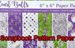 Scrapbook Paper Craft Pattern 6x6 Inches - Pattern Paper - Heart ...