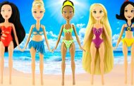 How to make play doh Beachwear for Rapunzel Cinderella Tiana | Le...