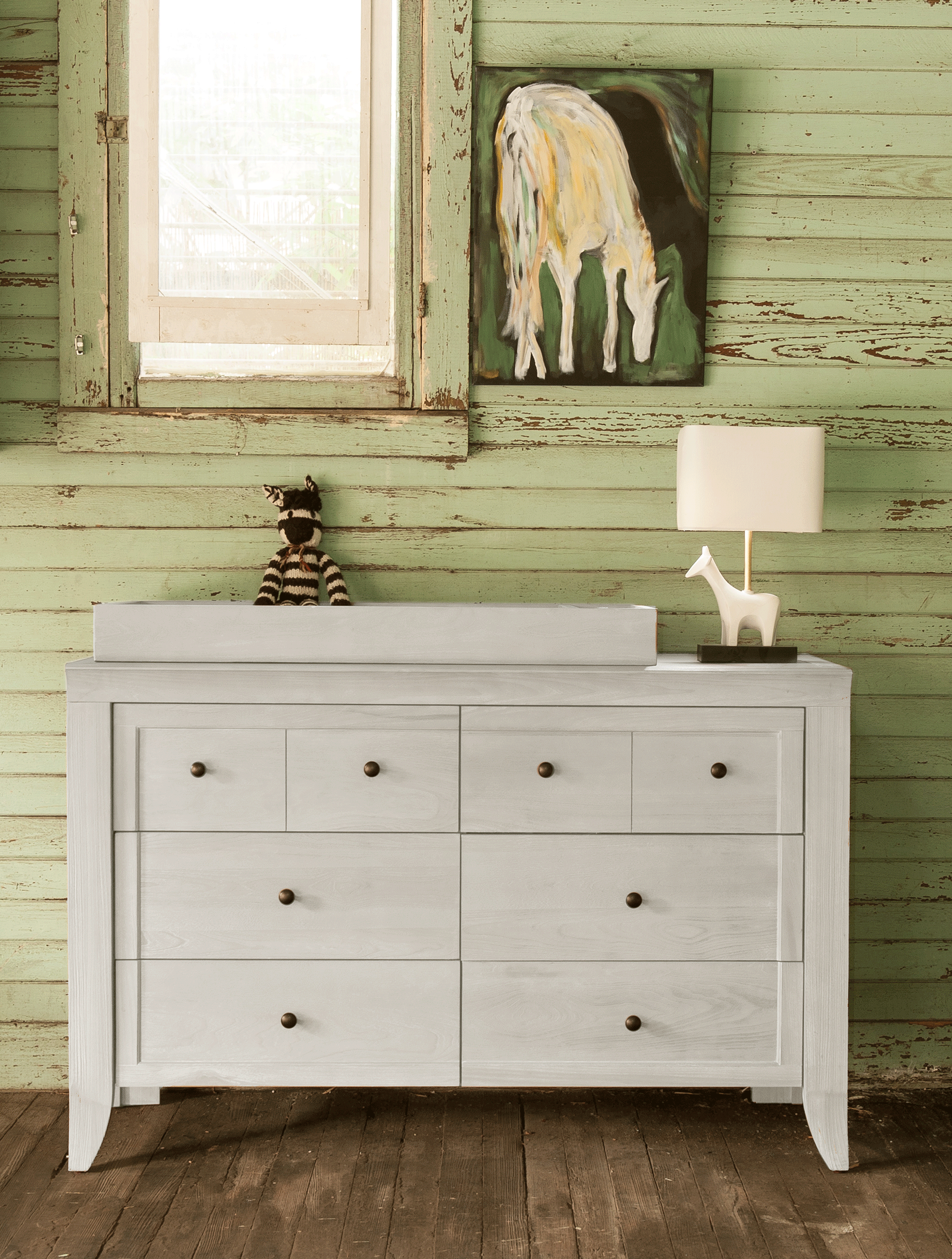 Cameo 6 Drawer Double Dresser with Changer Topper