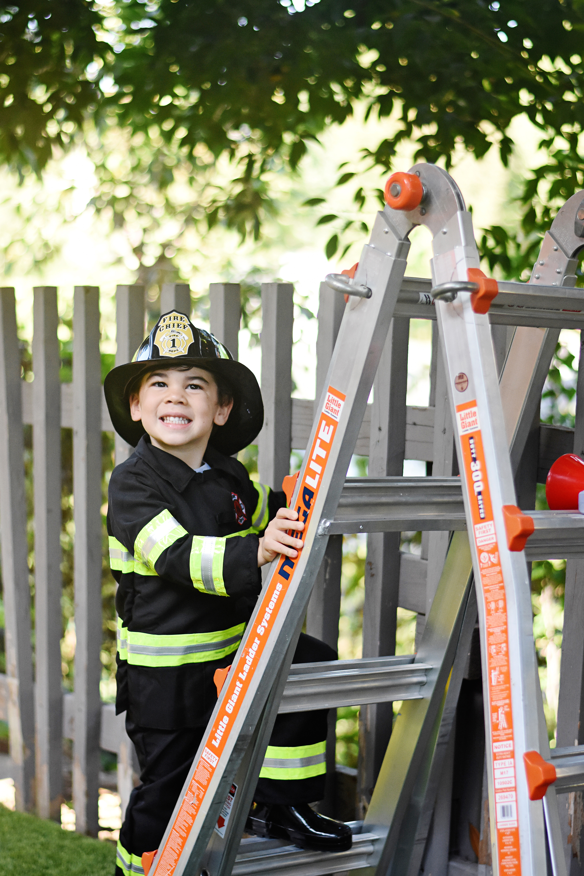 Climb a real ladder just like a firefighter