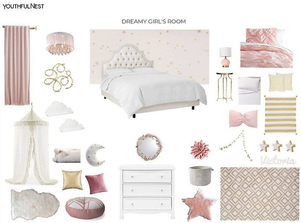 Dreamy Pink Girl's Room