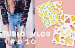 STUDIO VLOG 010 | PAINTING PATTERNS,  PACKING ORDERS & PRINTS...