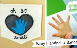 Handprint Wall Banner DIY - New Baby, New You | @laurenfairwx...