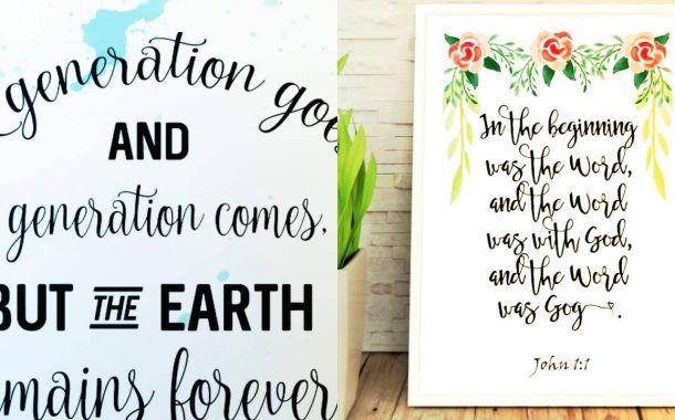 Printable art and designs - quotes, bible verses, nursery prints ...