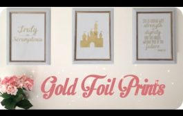 DIY | Easy Gold Foil Prints (with laminator) Nursery Sneak Peek!...