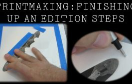 Printmaking: Tearing, Cleaning, and Signing an Edition of Prints...