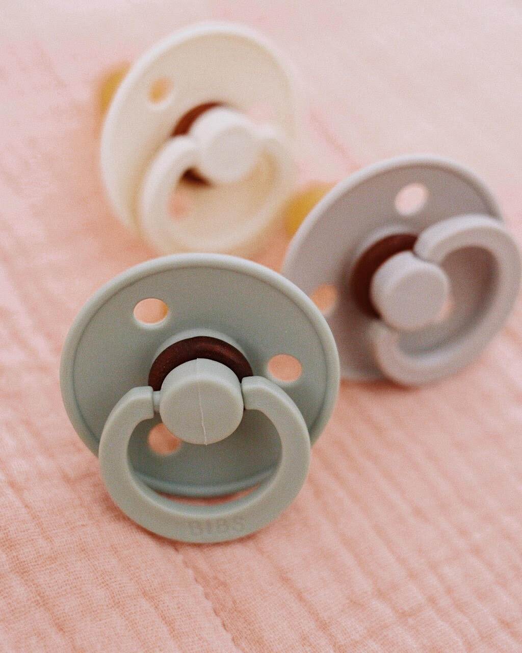 Pacifiers with Muted Color Palette