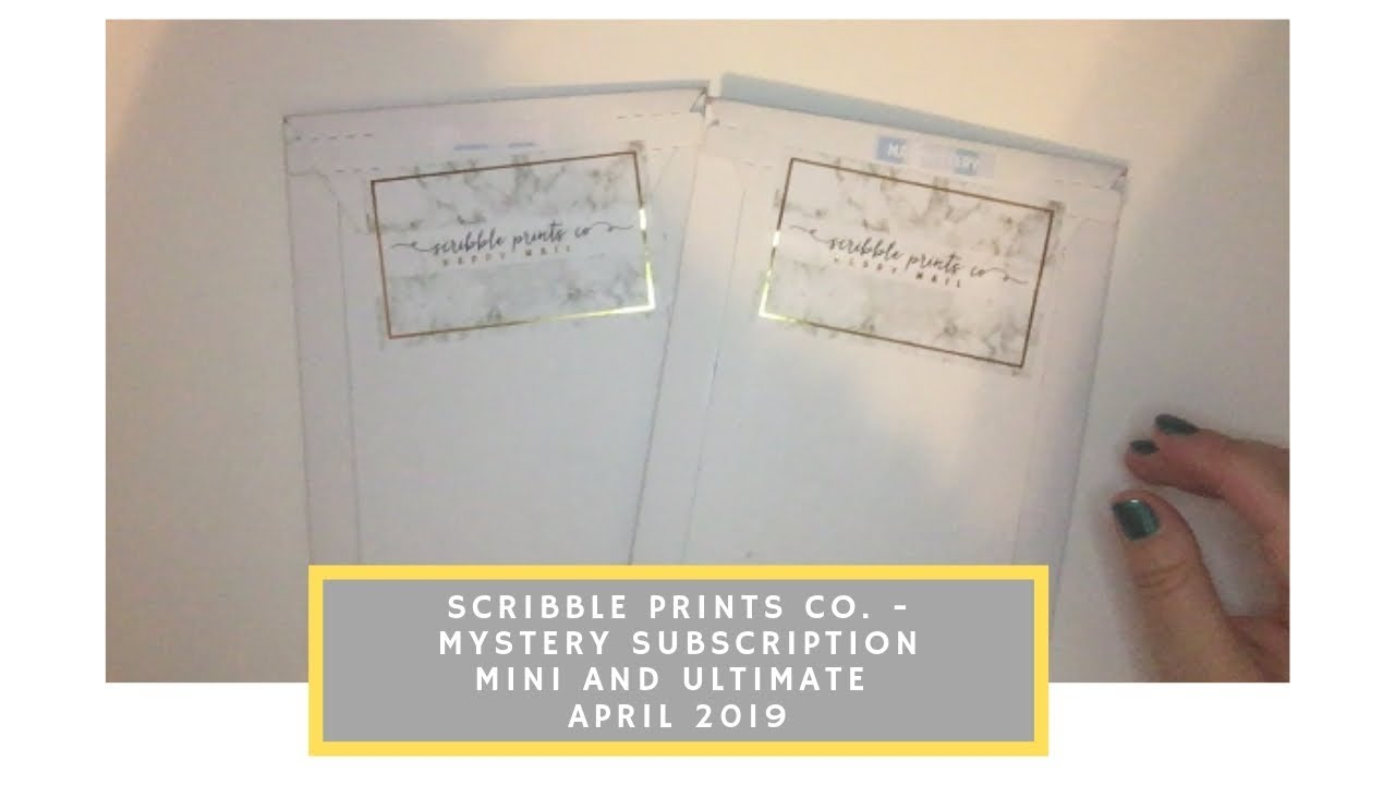 Scribble Prints Mystery Subscription - Mini and Ultimate - April ...