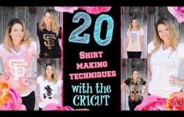 20 Shirt Making Techniques with the CRICUT EXPLORE AIR 2!...