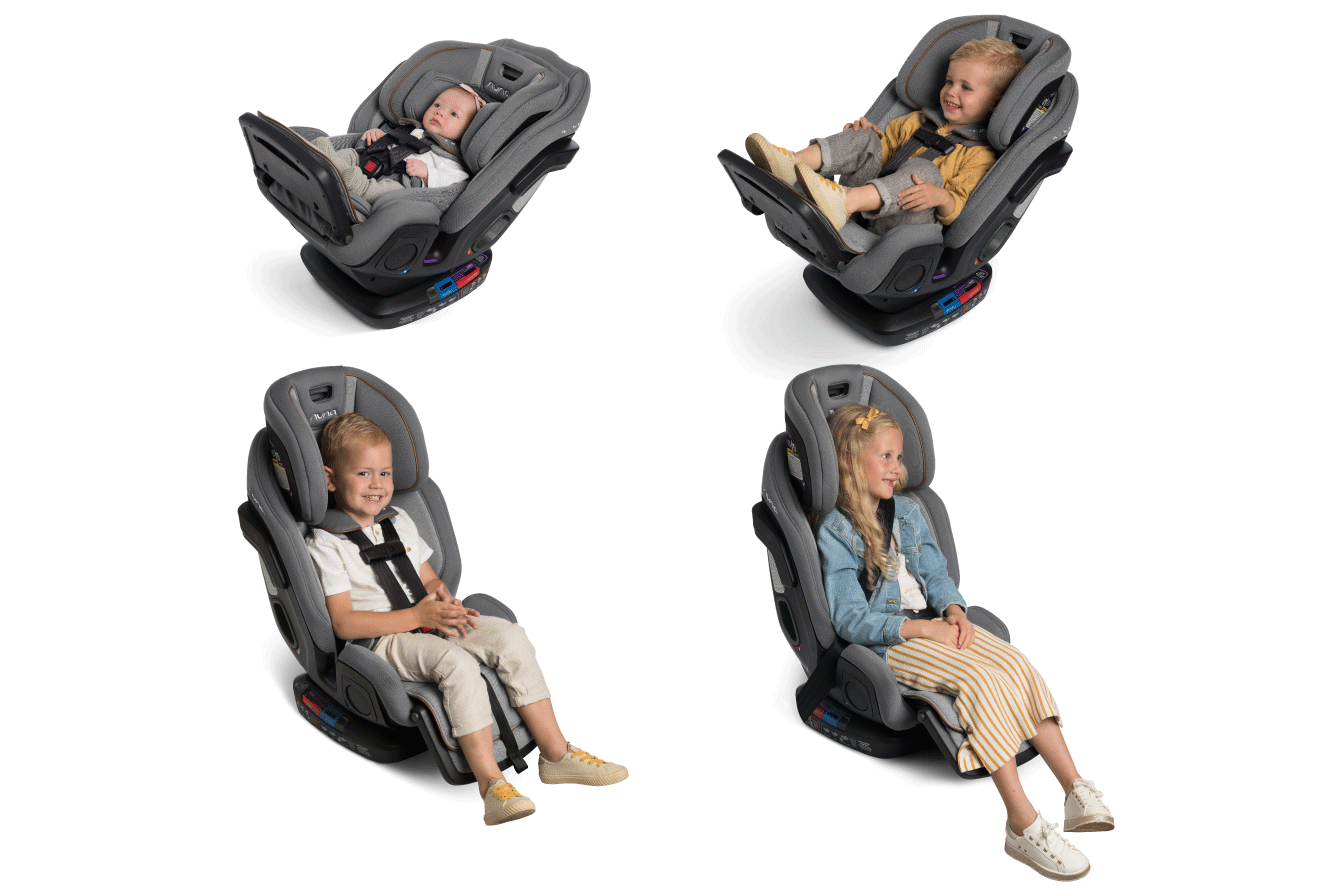 Nuna Exec Convertible Carseat Transitions to a Seatbelt Positioning Booster