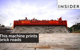 This machine prints brick roads...