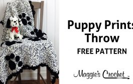 Puppy Prints Afghan Free Crochet Pattern - Right Handed...