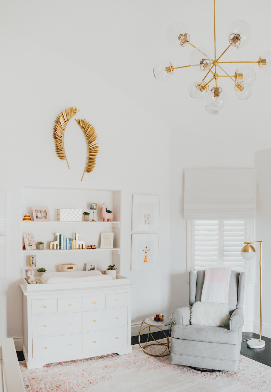 Pink Nature-Inspired Nursery with Gold Accents like this Gorgeous Gold Wall Feathers