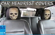 Skull Car Headrest Covers by L&S Prints...