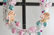 Make a Festive Candy-themed Holiday Wreath in Under 10 Minutes!...